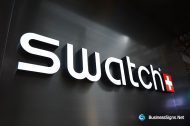 3D LED Front-lit Signs With Painted Acrylic Letter Shell For Swatch