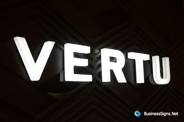 3D LED Whole-lit Signs For Vertu