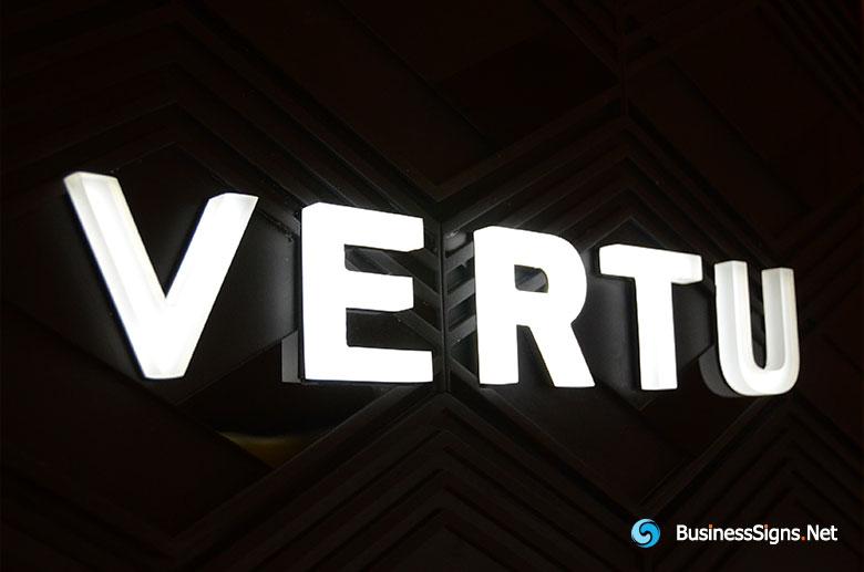 3D LED Whole-lit Signs For Vertu