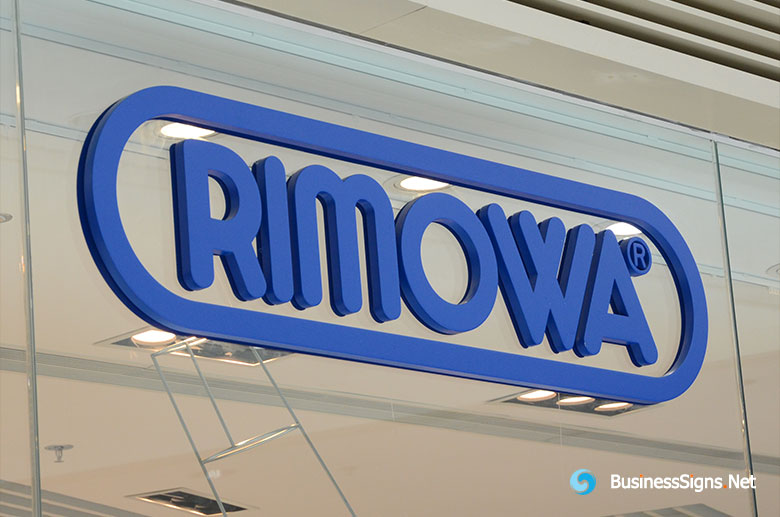 3D Painted Fabricated Stainless Steel Signs For RIMOWA