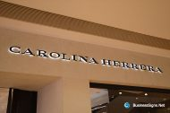 3D LED Backlit Signs With Painted Stainless Steel Letter Shell For Carolina Herrera