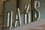 3D LED Backlit Signs With Brushed Stainless Steel Letter Shell & 20mm Thickness Acrylic Back Panel For DAKS
