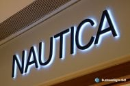 3D LED Backlit Signs With Painted Stainless Steel Letter Shell & 20mm Thickness Acrylic Back Panel For Nautica