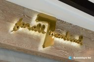 3D LED Backlit Signs With Mirror Polished Gold Plated Letter Shell For 7 For All Mankind