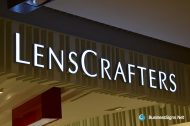 3D LED Front-lit Signs With Brushed Stainless Steel For LensCrafters
