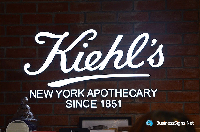 3D LED Front-lit Signs With Painted Stainless Steel Letter Shell For Kiehl's