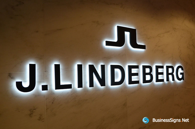 3D LED Side-lit Signs With Black Acrylic Front-panel For J.Lindeberg