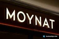 3D LED Front-lit Signs With Mirror Polished Stainless Steel Letter Shell For Moynat