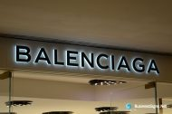 3D LED Side-lit Signs With Black Acrylic Front-panel For Balenciaga
