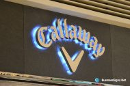 3D LED Backlit Signs With Mirror Polished Stainless Steel Letter Shell For Callaway