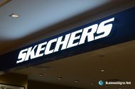 3D LED Front-lit Signs With Painted Stainless Steel Letter Shell For Skechers