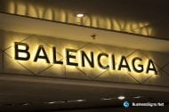 3D LED Backlit Signs With Mirror Polished Gold Plated Letter Shell For Balenciaga