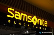 3D LED Front-lit Signs With Mirror Polished Stainless Steel Letter Shell For Samsonite