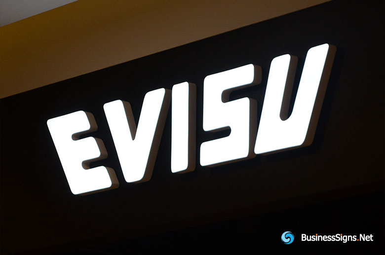 3D LED Front-lit Signs With Painted Stainless Steel Letter Shell For Evisu