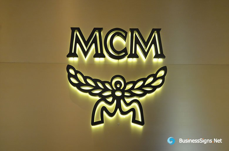 3D LED Backlit Signs With Plated Antique Copper Letter Shell For Modern Creation Munich (MCM)