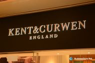 3D LED Side-lit Signs With Gold Plated Brushed Stainless Steel Front-panel For Kent & Curwen