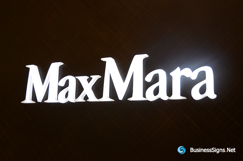 3D LED Whole-lit Signs For MaxMara