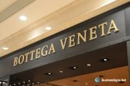 3D LED Back-lit Signs With Gold Plated Brushed Stainless Steel Letter Shell And Visible Thickness Acrylic Back Panel For Bottega Veneta