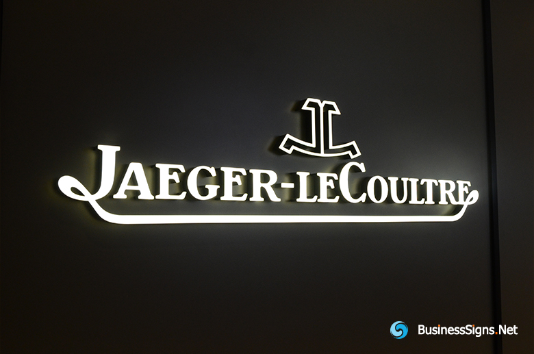 3D LED Front-lit Signs With Painted Engraved Acrylic Letter Shell For Jaeger-LeCoultre