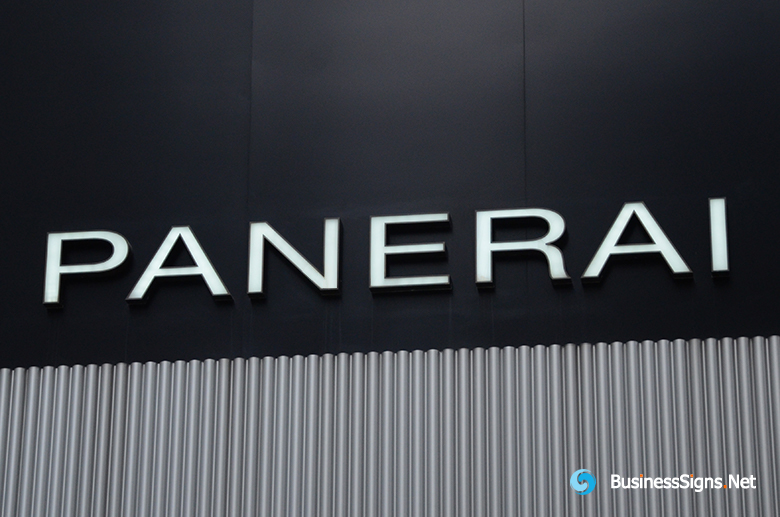 3D LED Front-lit Signs With Mirror Polished Stainless Steel Letter Shell For Officine Panerai