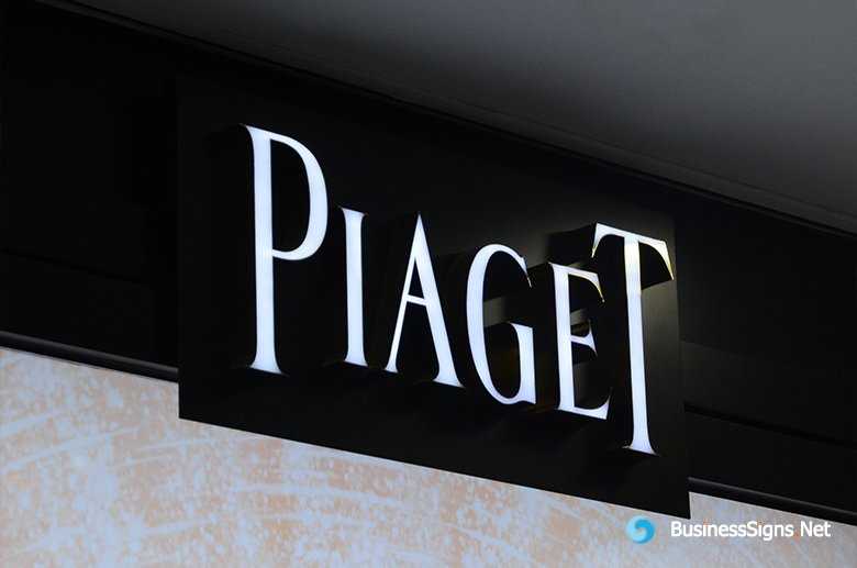 3D LED Front-lit Signs With Mirror Polished Stainless Steel Letter Shell For Piaget