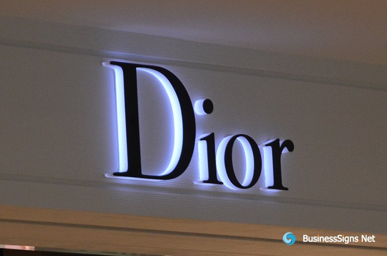3D LED Side-lit Signs With Black Acrylic Front-panel For Dior