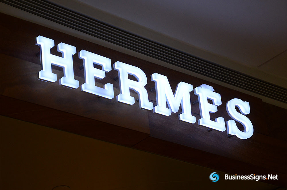 3D LED Whole-lit Signs For Hermès