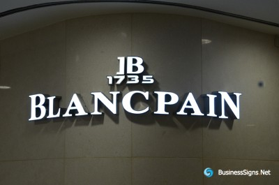 3D LED Front-lit Signs With Painted Stainless Steel Letter Shell For Blancpain
