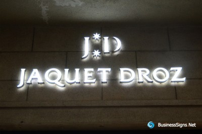 3D LED Double-sided-lit Signs With Painted Engraved Solid Acrylic Letter Shell For Jaquet-Droz