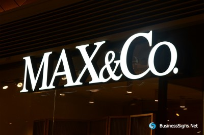 3D LED Front-lit Signs With Painted Stainless Steel Letter Shell For Max&Co.