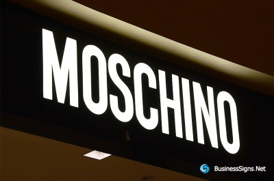 3D LED Front-lit Signs With Painted Stainless Steel Letter Shell For Moschino