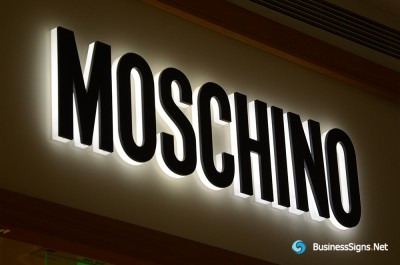 3D LED Side-lit Signs With Black Acrylic Surface For Moschino