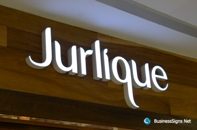 3D LED Front-lit Signs With Painted Stainless Steel Letter Shell For Jurlique