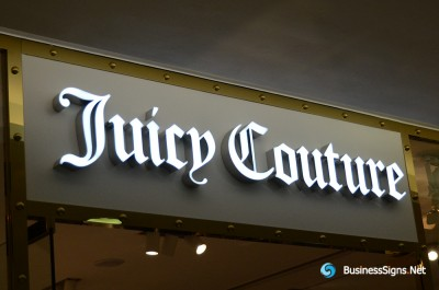 3D LED Front-lit Signs With Brushed Stainless Steel Letter Shell For Juicy Couture