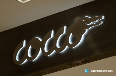 3D LED Side-lit Signs With Brushed Stainless Steel Front-panel For Cocco