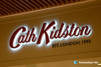 3D LED Backlit Signs With Powder Coated Stainless Steel Letter Shell For Cath Kidston